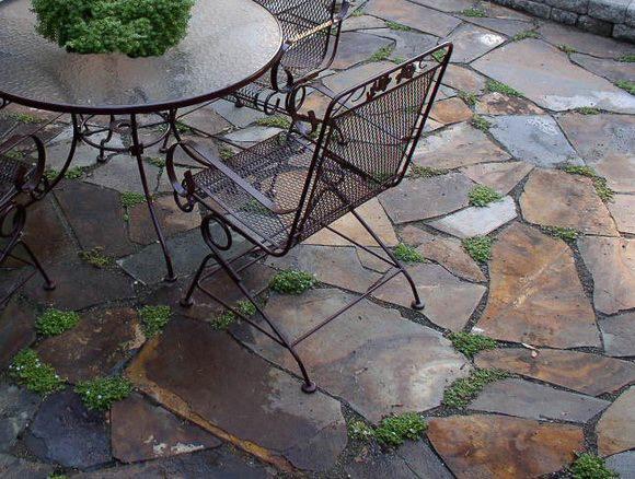 natural stone patio paving